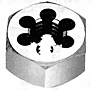 Carbon Steel and High Speed Steel Hexagon Rethreading Dies